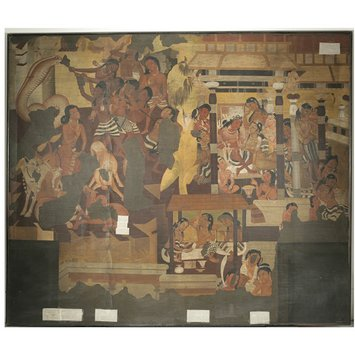 Oil painting - Copy of painting inside the caves of Ajanta (cave 1)
