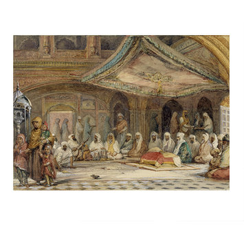 Painting - Interior of the Golden Temple, Amritsar