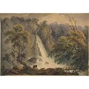Falls of Powerscourt, near Bray, Co. Wicklow (Watercolour)