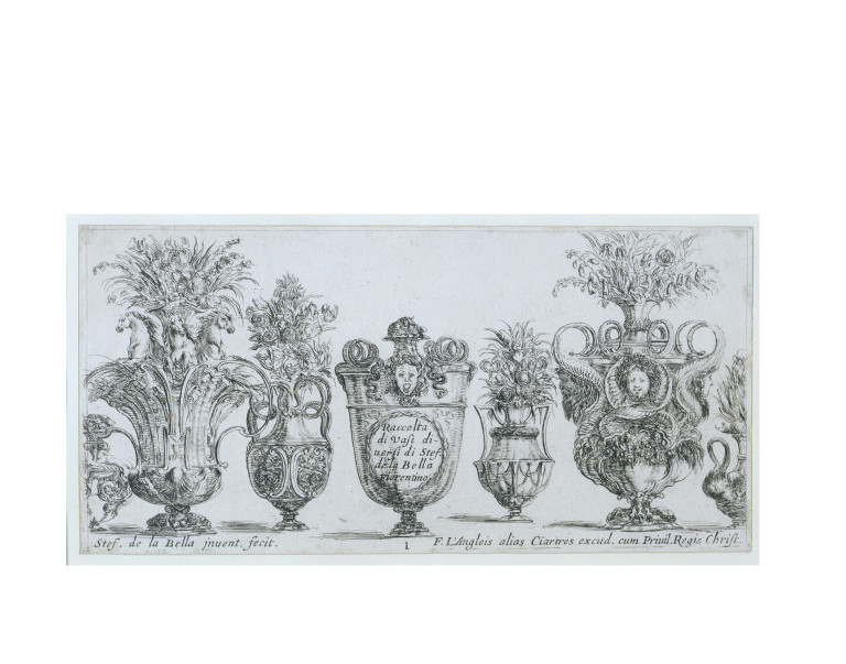 Plate From A Set Of Designs For Vases Stefano Della Bella Va