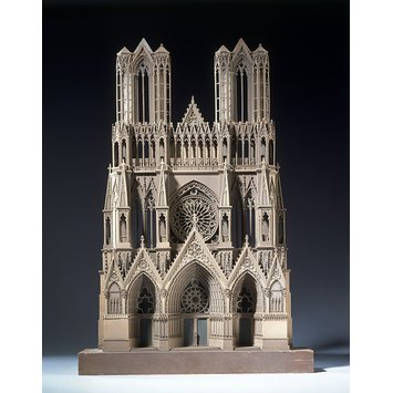Model of west front of rheims cathedral