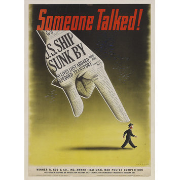 Poster - Someone Talked!