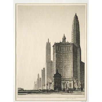 Print - The Vertical Mile (Chicago 1932)