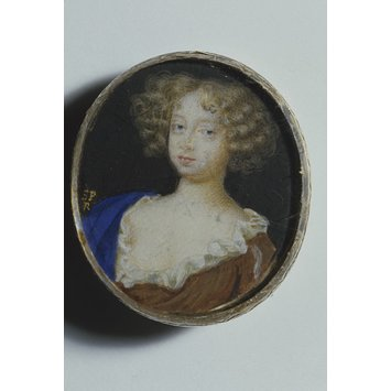 Portrait miniature - A Woman, perhaps Mary Beatrice d'Este, Duchess of York