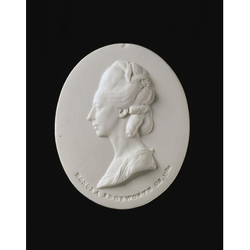 Trial portrait medallion - Honora Sneyd Edgeworth