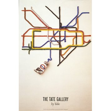 Poster - The Tate Gallery by Tube