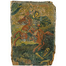 St Demetrius slaying a pagan (Icon)