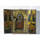 Triptych with the Virgin and Child, Saint Nicholas, Saint Charalambos, Saint George and Saint Demetrius (Icon)