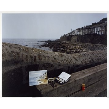 Photograph - Painting by a man from Chicago on a painting holiday, Mousehole