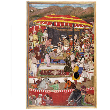 Painting - Maharana of Mewar and Prince Khurram