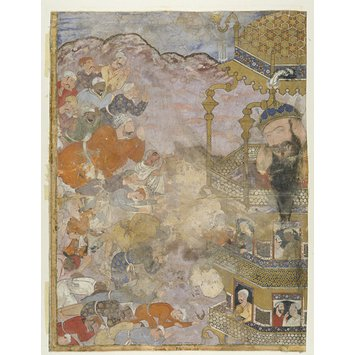 Painting - Umar is received by the giant Zumrud Shah