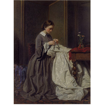 Oil painting - The Seamstress