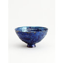 Blue Crater Lustre Footed Bowl (Bowl)
