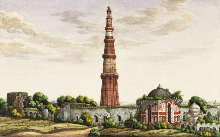 Sixty drawings of mughal monuments and architectural for Archaeological monuments in india mural paintings
