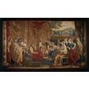 The infant Moses tramples on Pharoah's crown (Tapestry)