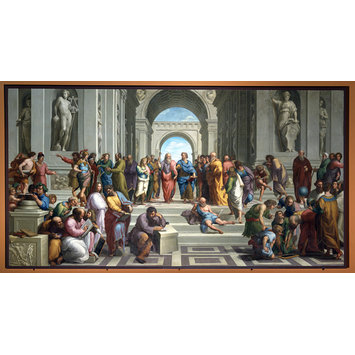 Oil painting - The School of Athens (after Raphael)