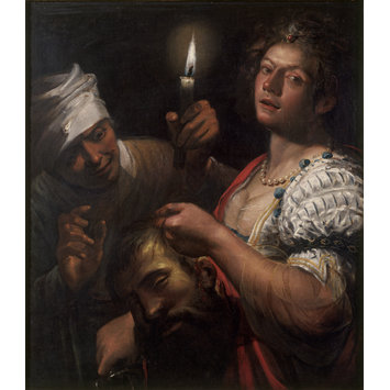 Oil painting - Judith Holding the Head of Holofernes