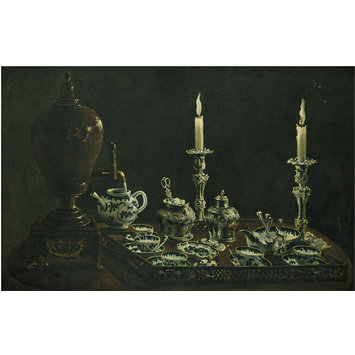 Oil painting - Tea Service on a Tray