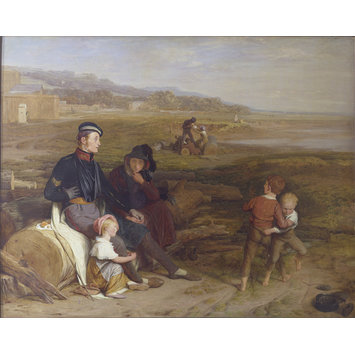 Oil painting - The Convalescent from Waterloo