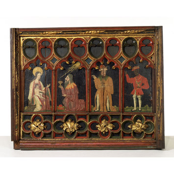 Panel - The Adoration of the Magi (lower part of a rood screen)