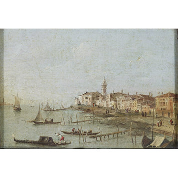 Oil painting - View near Venice