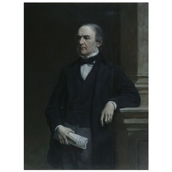 Oil painting - The Right Honourable William Ewart Gladstone, MP (1809-1898)