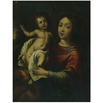 Oil painting - Virgin and Child with the Infant St John