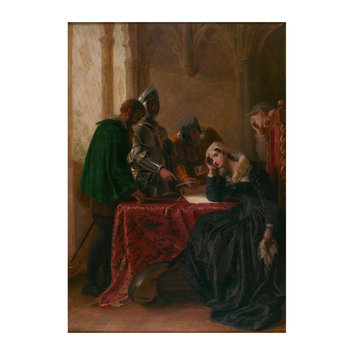 Oil painting - The Abdication of Mary, Queen of Scots
