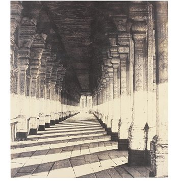 Photograph - Aisle on the South Side of the Puthu Mundapum, from the Western Portico