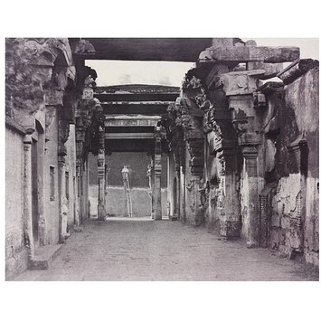 Photograph - Entrance to the Steps, Leading up to the Pagoda on the Rock, Looking Towards the Street