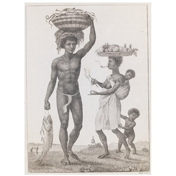 Print - Family of Negro Slaves from Loango