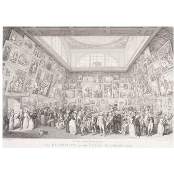 Print - The Exhibition of the Royal Academy, 1787