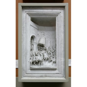 Plaster cast - The departure of Gaston de Foix from the Porta Romana