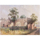 Ruins of the Nawab Baree - Dacca (Painting)