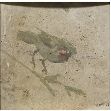 Fresco fragment - Bird on a branch