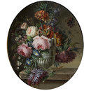 Flowers in a Vase (Oil painting)