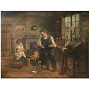 A Little Girl at the Toy-Mender's (Oil painting)