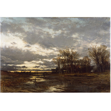 Oil painting - Landscape, Evening