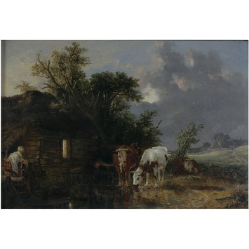 Cows Drinking | Burnet, John F R S  | V&A Search the Collections