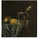 Still life with silver tankard (Oil painting)