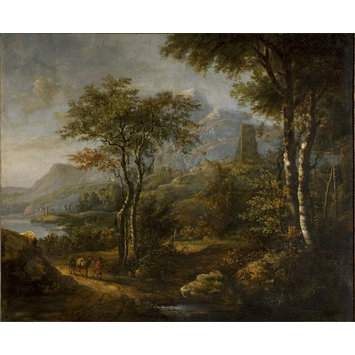 Oil painting - Landscape with Mountains in the Distance