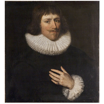 Oil painting - An Unknown man (formerly called Lord Fairfax)