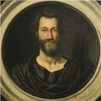 Oil painting - Portrait of John Donne (1573-1631) at the age of 49