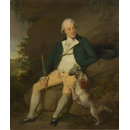 A Seated Man with a Dog; Mr Nicholas (Oil painting)
