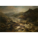 Driftwood after a Storm, Betws-y-Coed (Oil painting)
