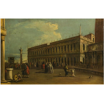 Oil painting - Venice: The Piazzetta