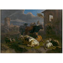 Italian Landscape with Cattle (Oil painting)