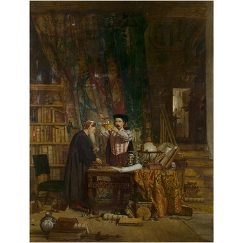 Oil painting - The Alchemist