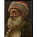 Head of an elderly Arab (Oil painting)