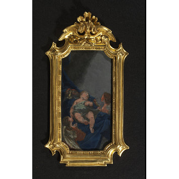 Painting - The Infant Christ asleep, adored by two angels